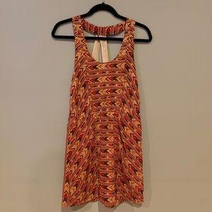 ANTHRO Jamison sz S Aztec silk print dress dress!